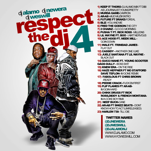 DJ Alamo x DJ New Era x DJ Wes Will - Respect The DJ 4 (Mixtape)