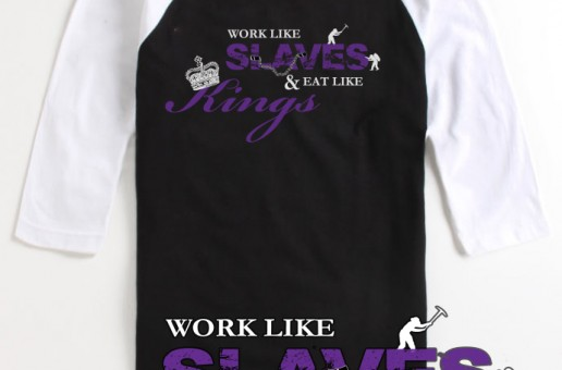 Sleep Is 4 Suckers (@SleepIs4Suckers) (@Si4S) – Work Like Slaves, Eat Like Kings (Baseball Tee)