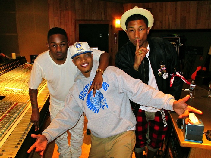 T.I., Kendrick Lamar & Pharrell In The Studio