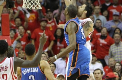 Houston Rockets Forward Carlos Delfino Dunks On Thunder Star Kevin Durant (Video)