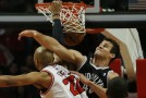 Chicago Bulls High Flyer Taj Gibson Soars Over Brooklyn Nets Forward Kris Humphries (Video)