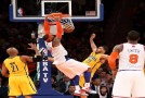 Carmelo Anthony's Monster Dunk Puts Pacers Big Man Pendergraph On His Back (Video)