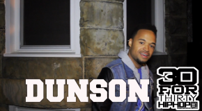 [Day 16] Dunson &#8211; 30 For THIRTY DMV Freestyle (Video)