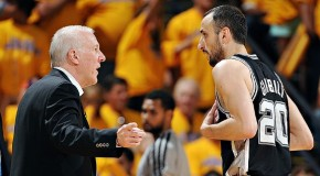 Spurs Manu Ginobili Steps Back & Breaks Warriors Rookie Harrison Barnes Ankles (Video)