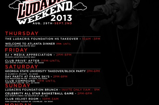 Ludacris x DTP Presents: LudaDay Weekend 2013 (Aug. 29 – Sept.2)