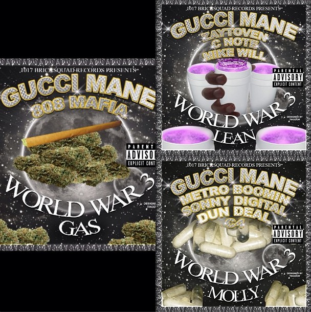 Gucci Mane – World War 3 (Molly, Gas & Lean) (3 Part Mixtape