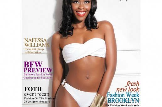 Nafessa Williams Covers Runway News July/ August Swim Pinup Magazine