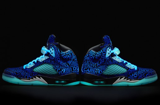 Isaac's Nike X Doernbecher Air Jordan 5 Retro (Photo)