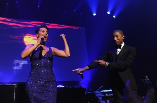Alicia Keys & Pharrell – Get Lucky (Live At Black Ball) (Video)