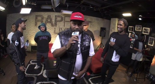 ASAP Rocky, Bun B, Vic Mensa & Glam.I.Rock – MTV RapFix Live Freestyle (Video)