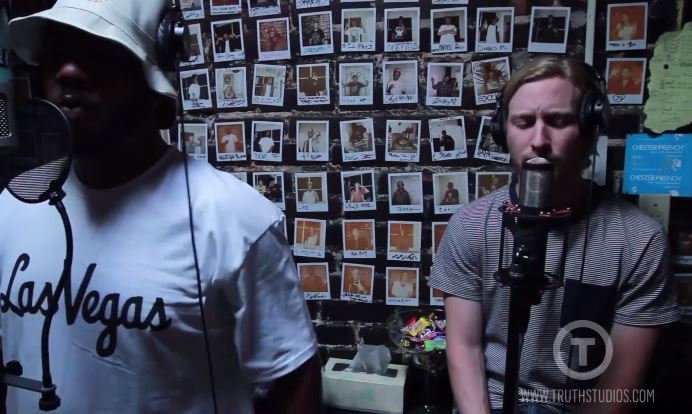 chuckasherinstudiovideo Chuck Inglish & Asher Roth   For the Love (In Studio) (Video)