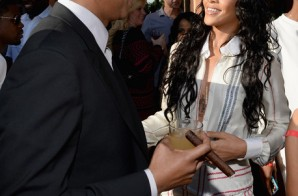 Jay-Z, Rihanna, Meek Mill, J. Cole, Wale, DJ Mustard & more Attend Roc Nation's 2014 Pre-Grammy Brunch (Photos)