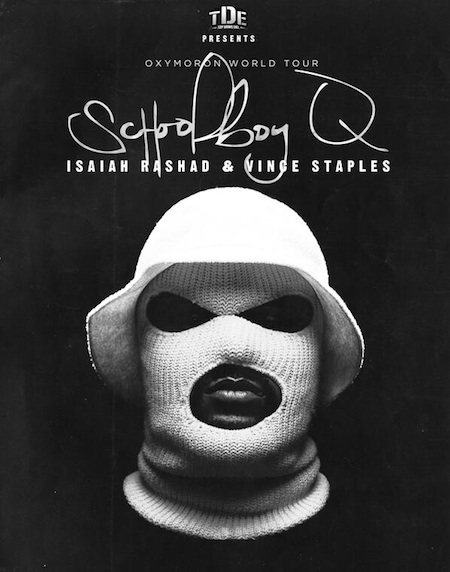 schoolboy q announces oxymoron tour with isaiah rashad vince staples HHS1987 2014 Schoolboy Q Announces Oxymoron Tour With Isaiah Rashad & Vince Staples