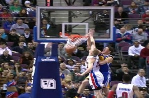 Hi, My Name Is: Golden State Warrior Klay Thompson Posterizes Detroit Pistons forward Kyle Singler (Video)
