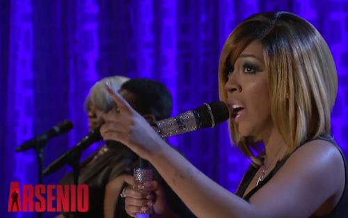 "K. Michelle Performs ""Can't Raise A Man"" on the Arsenio Hall Show (Video)"