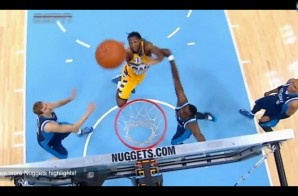 Denver Nuggets Forward Kenneth Faried Tosses Himself an Assist off the Backboard (Video)
