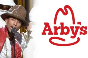 Pharrell's Vivienne Westwood Hat Brought By Arby's For His 'One Hand To AnOTHER' Organaztion