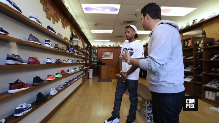fabolous goes sneaker shopping with complex at packer shoes in nj