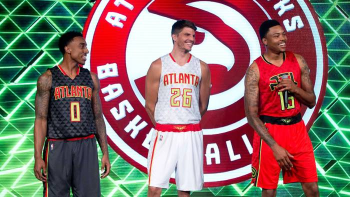 The Atlanta Hawks Offer First Glimpse Of New Court Amp 2015