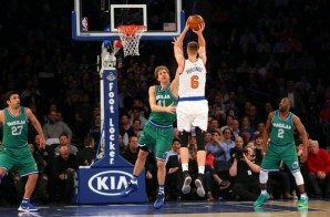 Kristaps Porzingis & Dirk Nowitzki Square Off at MSG; Mavs Put Out The Win (104-97) (Video)