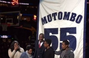 Mount Mutombo: The Denver Nuggets Have Retired Dikembe Mutombo's #55 Jersey (Video)