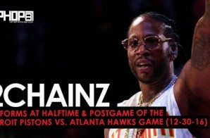 """2 Chainz Performs """"Big Amount"""", """"Watch Out"""", """"Birthday Song"""" & More at the Detroit Pistons vs. Atlanta Hawks Game (12-30-16)"""