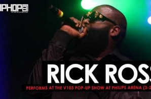 Rick Ross Performs at the V103 Pop-Up Show at Philips Arena (3-25-17) (Video)