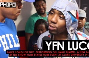 YFN Lucci Talks 'Long Live Nut', Performing On Jimmy Kimmel, A New Album, at the Know Your Status Tour Event at Clark University (4-20-17) (Video)