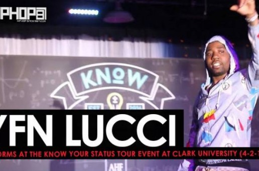 """YFN Lucci Performs """"Everyday We Lit"""", """"Heartless"""" & More at the Know Your Status Tour Event at Clark University (4-20-17) (Video)"""