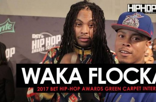 "Waka Flocka Talks Working with Omelly & Meek Mill, Cardi B, His New Record ""Circles"", Flockaveli 2, Being a Hip-Hop Father/Husband and More on the 2017 BET Hip-Hop Awards Green Carpet (Video)"