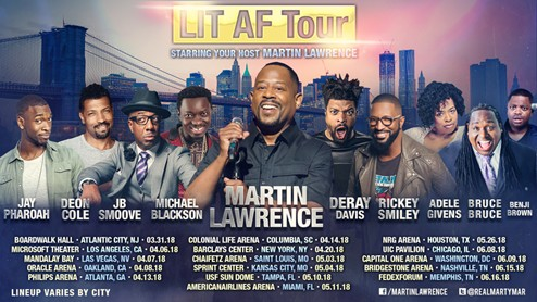 unnamed-11 Comedy Is Coming To The Highlight Factory: Martin Lawrence to Host 'Lit AF Tour' at Philips Arena (Friday April 13)