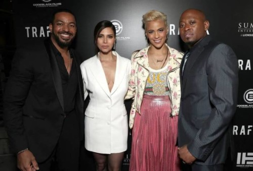 Laz-Roselyn-Paula-Omar-500x339 Omar Epps, Paula Patton & More Celebrate the New Film 'TRAFFIK' at the Los Angeles Premiere (Photos)