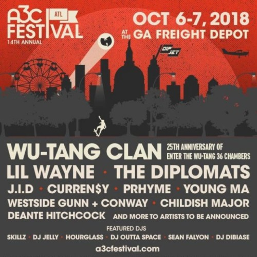 a3c-full-500x500 Wu-Tang Clan x Lil Wayne x The Diplomats & More Set To Perform at the 2018 A3C Festival in Atlanta