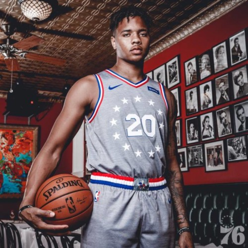 """markelle-rocky-500x500 ADRIAN: The Philadelphia Sixers Have Unveiled Their New City Edition Uniforms Inspired by """"Rocky"""" & Creed"""" Films"""