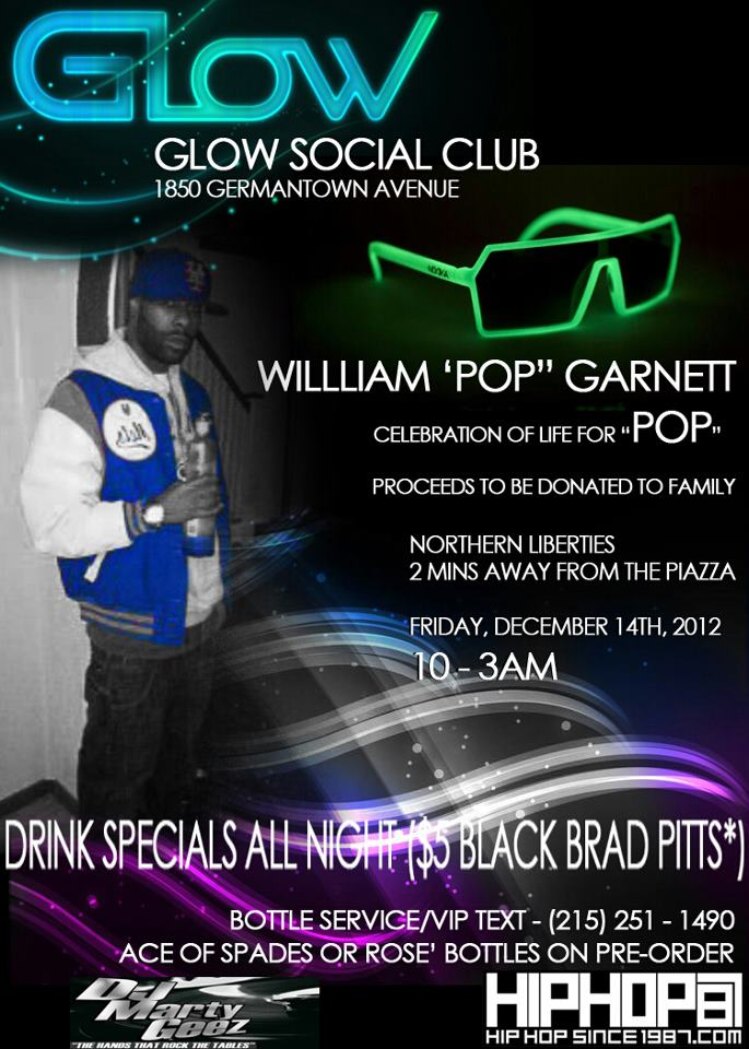 "celebration-of-life-for-william-pop-garnett-friday-121412-HHS1987-2012 Celebration of Life for William ""Pop"" Garnett Friday 12/14/12 @ Glow Social Club"