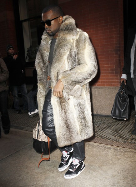 "Kanye-West-In-Mink PETA Responds To Kanye West's ""Theraflu"" Bar"