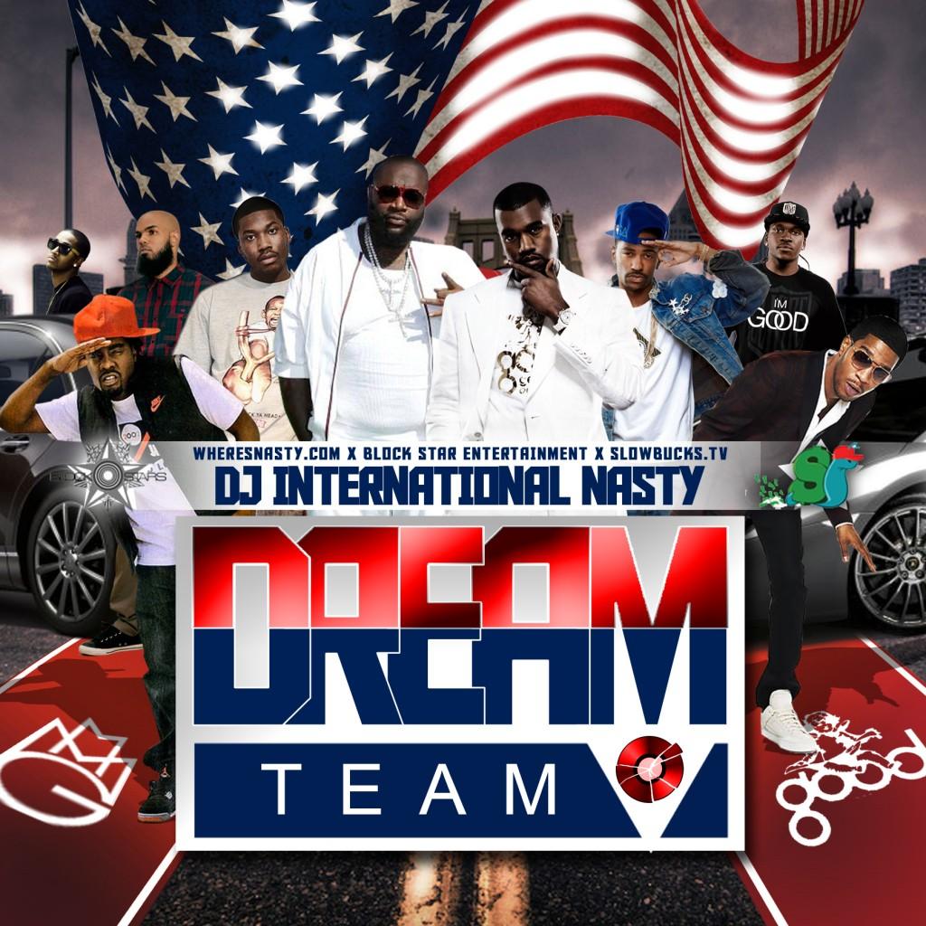 dj-international-nasty-the-dream-team-mmg-g-o-o-d-music-mixtape-front-cover-HHS1987-2012-1024x1024 DJ International Nasty (@JNastyCV) - The Dream Team (MMG & G.O.O.D Music) (Mixtape)