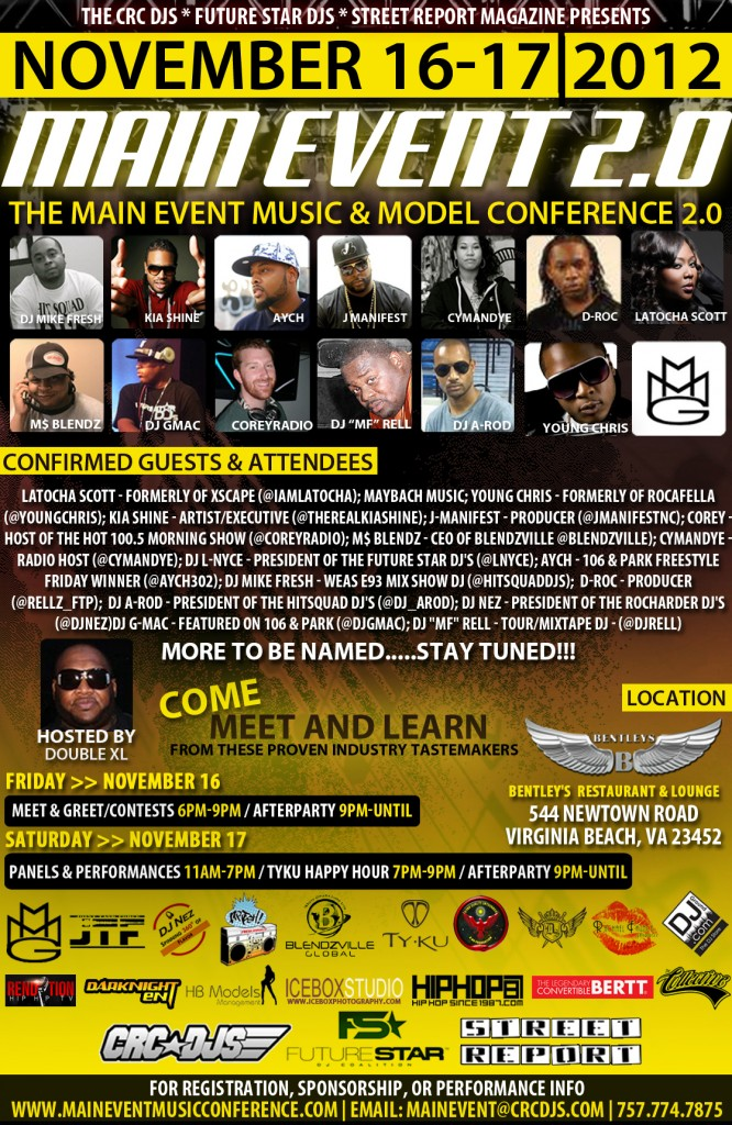 main-event-internet-flyer-no-bleed-666x1024 @CRCDJs MAIN EVENT MUSIC & MODEL CONFERENCE IN VIRGINIA NOVEMBER 16-17